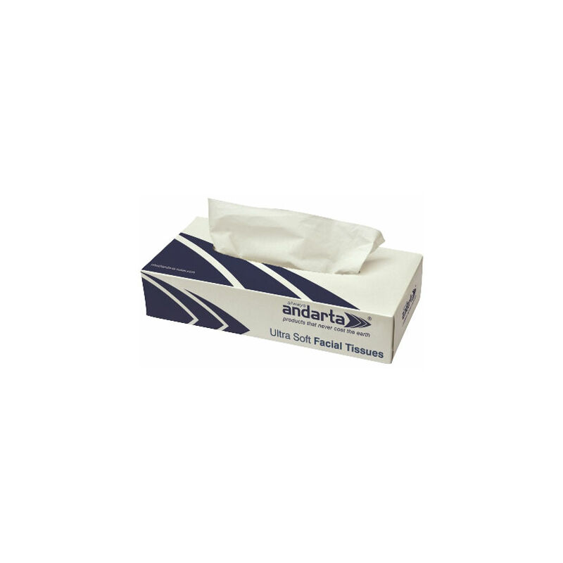 Image of 07-006 Luxury Facial Tissue 100 Sheets - Pack of 36 - Andarta