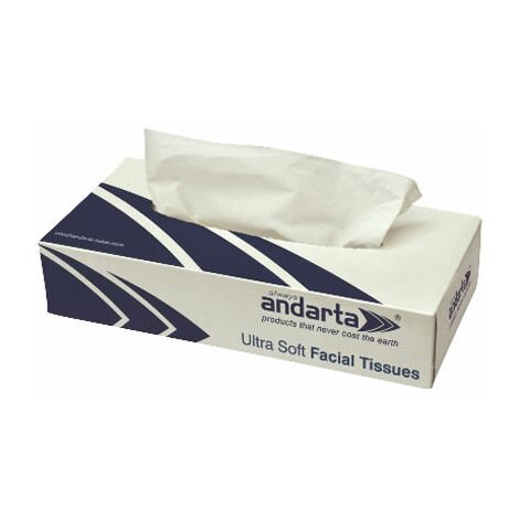 Andarta 07-006 Luxury Facial Tissue 100 Sheets - Pack of 36