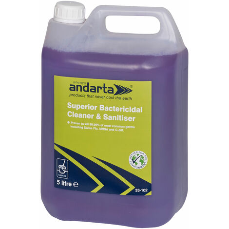 Andarta 33-102 Superior Bactericidal Cleaner and Sanitiser 5L