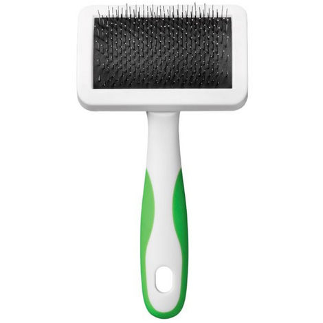 Andis Firm Slicker Dog Brush (M) (White/Green)