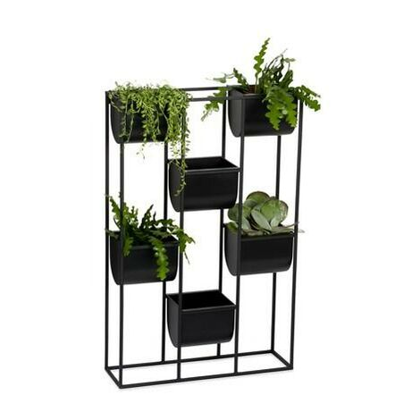 ANDREA HOUSE AX70035 Macetero Pared Metal/Abs Negro