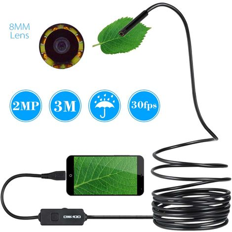 Android phone endoscope with OTG cable, waterproof auto repair pipe