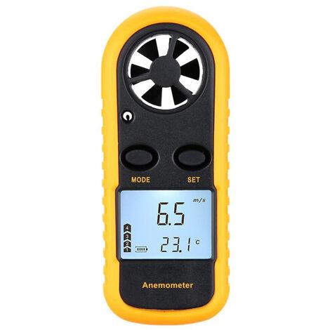 Anemometro digital, puede medir la temperatura del viento