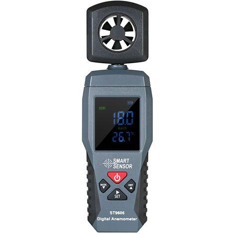 Anemometro digital, termometro, medidor de velocidad del viento