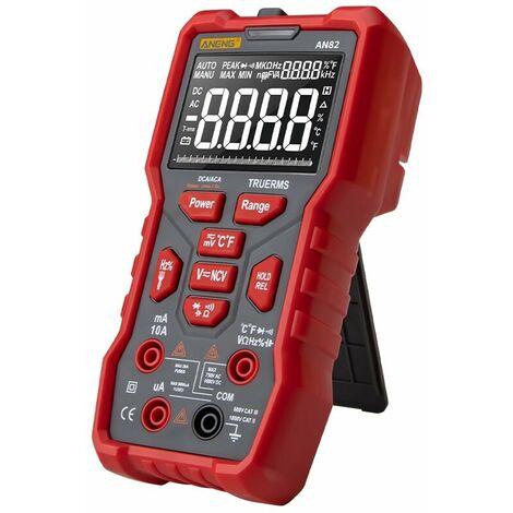 ANENG AN82 multimètre numérique professionnel 9999 testeur esr bricolage transistor condensateur NCV testeurs vrai RMS compteur analogique multimètre accessoires-Standard rouge