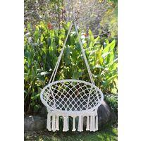 Angel Living Hamaca de algodón Tejida para Colgar Silla de Columpio de 260 Libras de Capacidad para Interior y Exterior