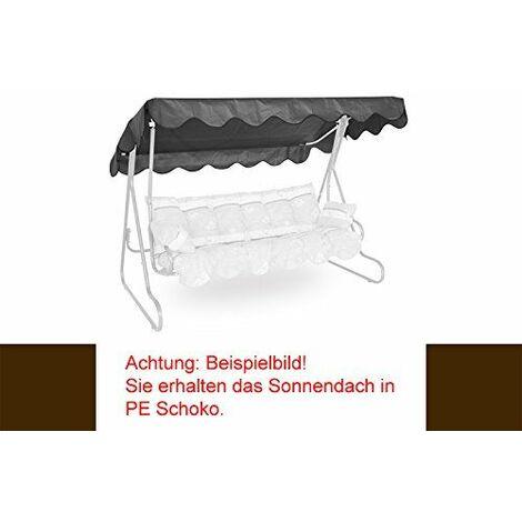 Angerer Toit balancelle 210 x 145 cm, qualité PE, couleur marron