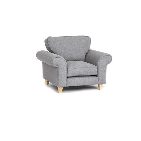 Angie Armchair - Light Grey - color Light Grey