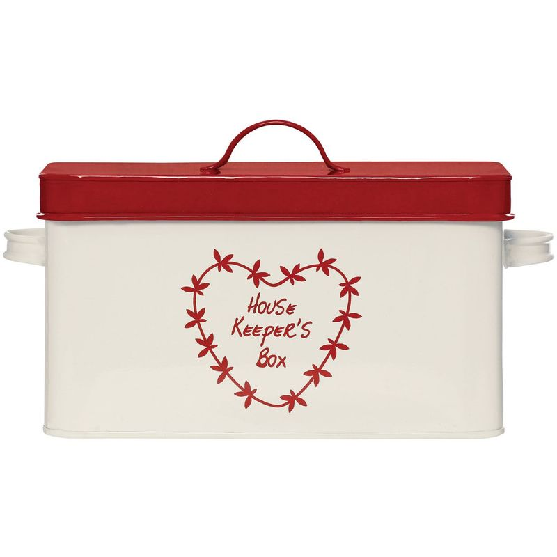 Image of Anglaise Housekeepers Box,Cream/Red