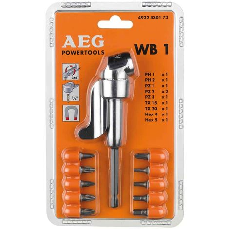 Angle bearing WB1 and 10 screwdriver bit AEG 4932430173