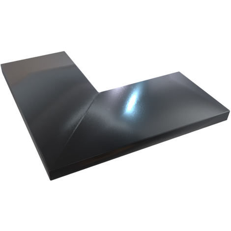 Angle Couvertine 90 Aluminium 1 Mm Noir 9005 400