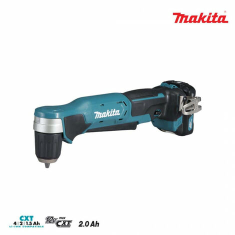 Angle drill MAKITA 12V 2.0Ah - 2 Batteries BL1020B - 1 charger DC10WC DA333DWAE