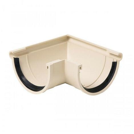 Angle extérieur 1/2 rond PVC sable