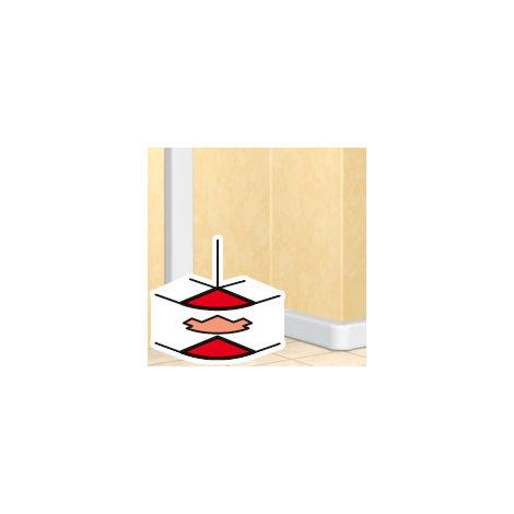 Angle extérieur 60 à 120° - DLP mono 50x105 - blanc