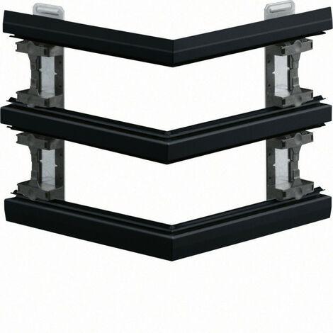 Angle extérieur pour BKIS épais 25mm double hauteur acier RAL 9011 noir (BKIS251303D9011)