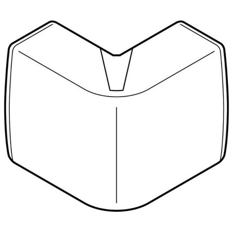 Angle extérieur Variasouple pour moulure Keva 32x15mm blanc Artic (11543)