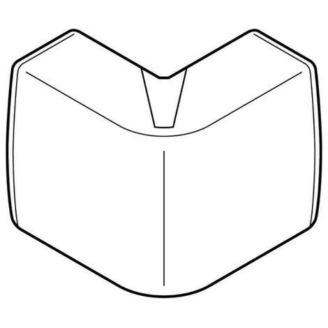 Angle extérieur Variasouple pour moulure Keva 50x15mm blanc Artic (11563)