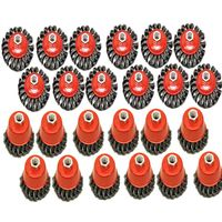 """Angle Grinder 4-1/2"""" (115mm) Twist Knot 12 x Cup Brush & 12 x Bevel Brush"""