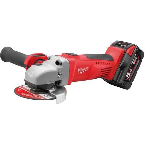 Angle grinder MILWAUKEE HD28 AG 125-502X - 2 batteries 28V 5.0Ah - 1 charger 4933448541