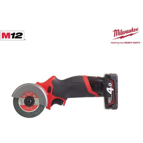 Angle grinder MILWAUKEE M12 FCOT-422X - 1 battery 2.0 Ah - 1 battery 4.0 Ah - 1 charger 4933464619