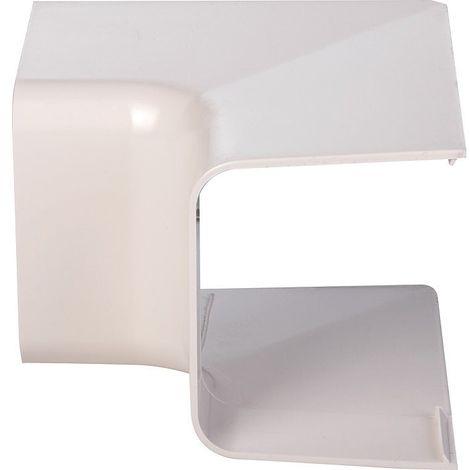 Angle intérieur 90° plastique rigide beige Largeur goulotte (mm) 80