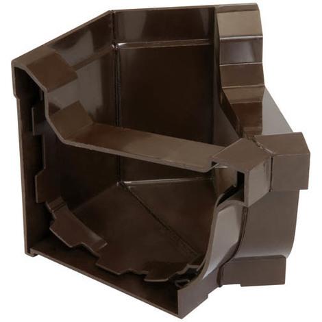 Angle intérieur a 135° corniche elite marron