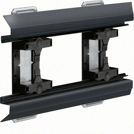 Angle intérieur pour BKIS épais 12,5mm simple hauteur acier RAL 9011 noir (BKIS121304E9011)