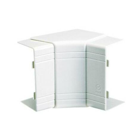 Angle intérieur variable 70° à 120° NIAV - Pour goulotte 120x60mm - Blanc