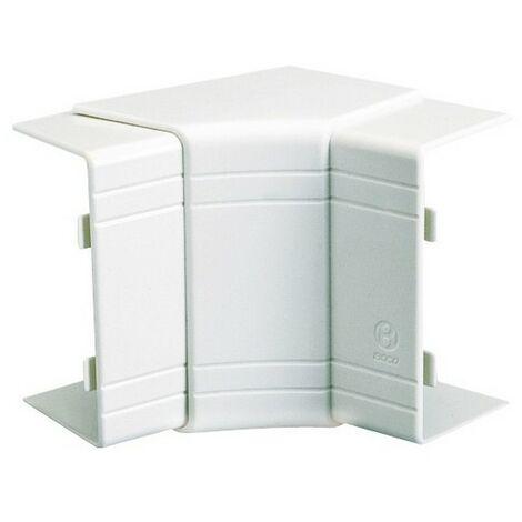 Angle intérieur variable 70° à 120° NIAV - Pour goulotte 150x60mm - Blanc