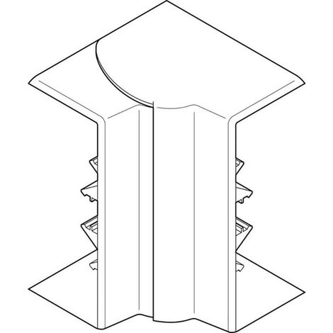 Angle intérieur variable 80-120° pour goulotte d'installation Logix 45 160x50mm noir (68213)