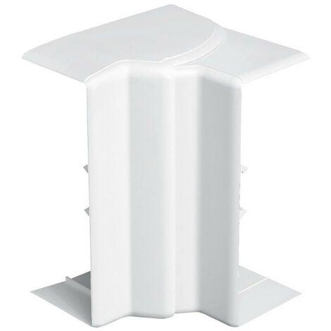 Angle intérieur variable 80-120° pour goulotte d'installation Logix 45, Logix Universel et PCABS ZH 130x50mm blanc Artic (48007)