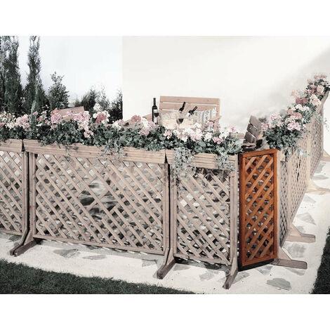 """Angle panneau jardinière avec treillis """"Orth"""" - l 37 x h 105 cm"""