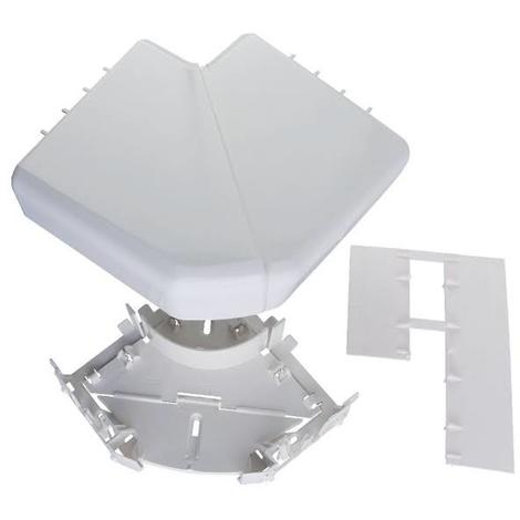 Angle plat 90° pour goulottes DLP monobloc 50x105mm blanc (010786)