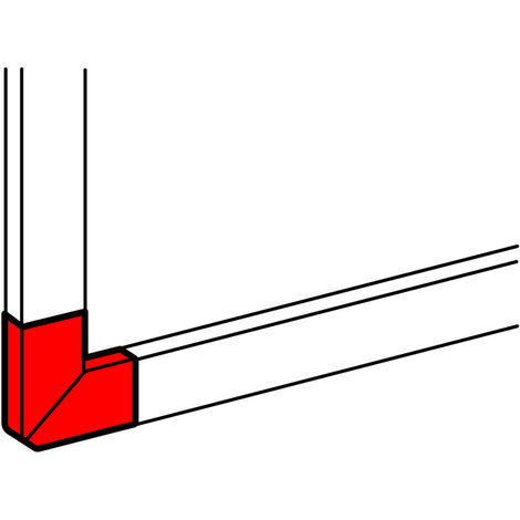 Angle plat à 90° - DLP mono 35x80 et 50x80 - blanc