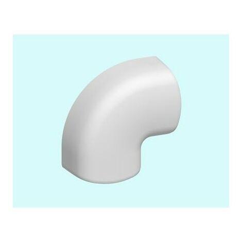 Angle plat CAP - Pour conduit de climatisation 120x75mm - Blanc