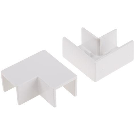 Angle plat de moulure pour câbles RS PRO PVC SériesMini 16 x 16mm