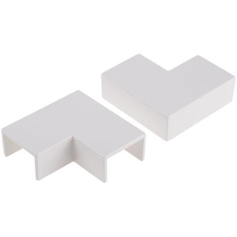 Angle plat de moulure pour câbles RS PRO PVC SériesMini 25 x 16mm