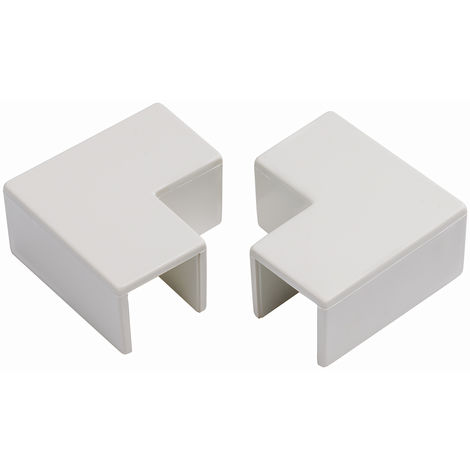 Angle plat de moulure pour câbles RS PRO PVC SériesMini 38 x 25mm