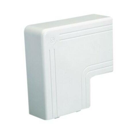 Angle plat NPAN - Pour goulotte 120x60mm - Blanc