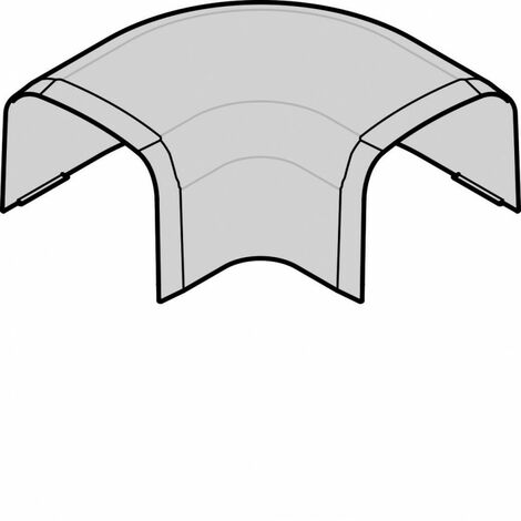 Angle plat p CLM65090 p 65mm h 90mm IK08-IK10 PVC rigide RAL 9010 blanc paloma (CLM650905)