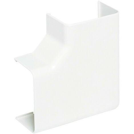 Angle plat pour goulotte de climatisation Viaclim 70x60mm blanc (16763)