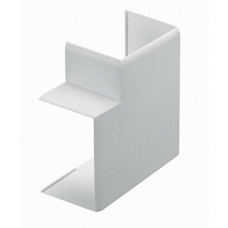 Angle plat pour goulotte de distribution Viadis 40x40mm blanc Artic (16343)