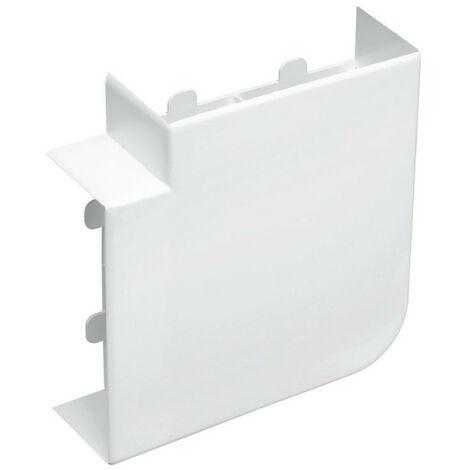 Angle plat pour goulotte d'installation Logix 45, Logix Universel et PCABS ZH 130x50mm blanc Artic (48009)