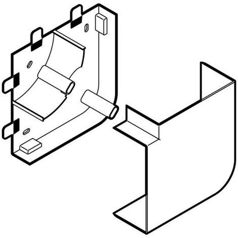 Angle plat pour goulotte d'installation Logix 45, Logix Universel et PCABS ZH 85x50mm blanc Artic (48004)