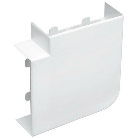 Angle plat pour goulotte d'installation PVC Logix 45 50x50mm blanc Artic (48031)