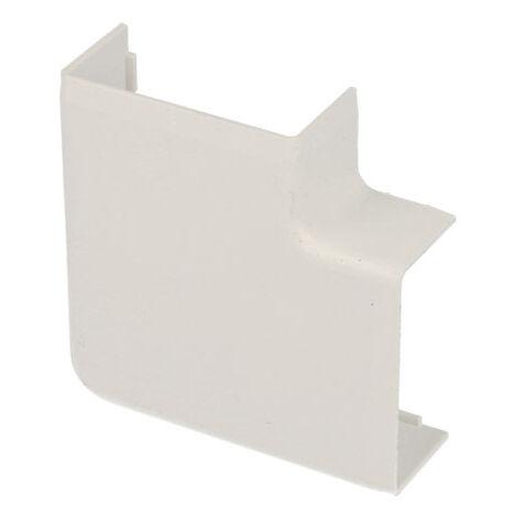 Angle plat pour goulotte PVC blanc 40 x 20 mm KOPOS