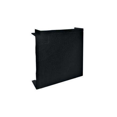 Angle plat queraz enclipsage direct pour GBD50161 RAL 9011 noir (L43489011)