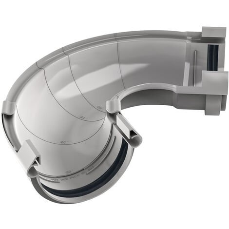 """main image of """"Angle universel ajustable en PVC Gris pour gouttière 250 - De 60° à 160° - FITT RAIN"""""""