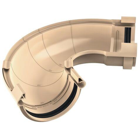 """main image of """"Angle universel ajustable en PVC Sable pour gouttière 250 - De 60° à 160° - FITT RAIN"""""""
