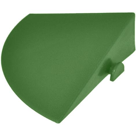 Angolo a scivolo in PP colore verde per rampe 03ANVE